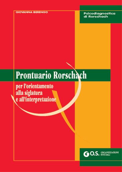 VO26 - Prontuario Rorschach per l'orientamento alla siglatura e all'interpretazione
